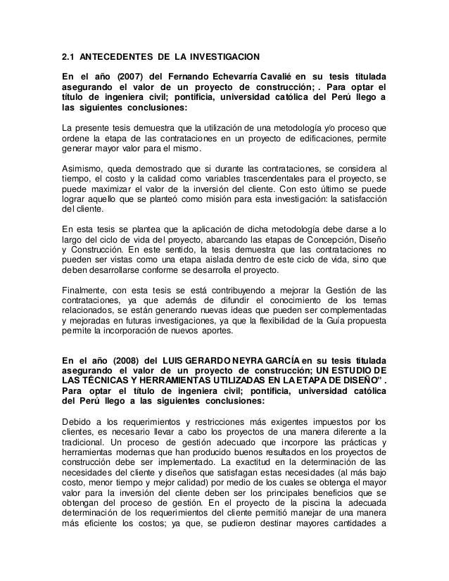 2.1 ANTECEDENTES DE LA INVESTIGACION En el año (2007) del Fernando Echevarría Cavalié en su tesis titulada asegurando el v...