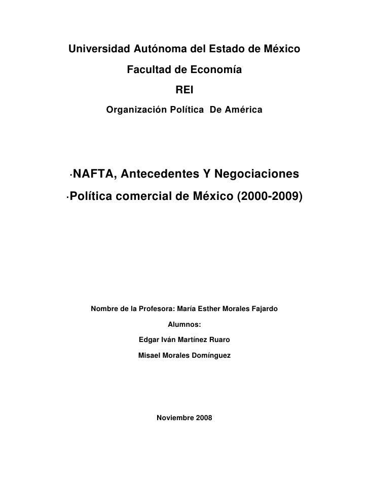 Universidad Autónoma del Estado de México<br />Facultad de Economía<br />REI<br />Organización Política  De América<br />·...