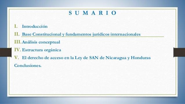 Análisis comparado del derecho a la alimentación en Nicaragua y Honduras Slide 2