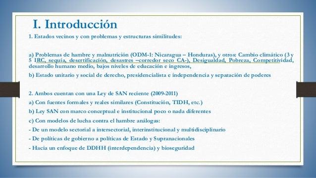 Análisis comparado del derecho a la alimentación en Nicaragua y Honduras Slide 3