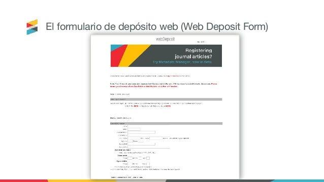 El formulario de depósito web (Web Deposit Form)