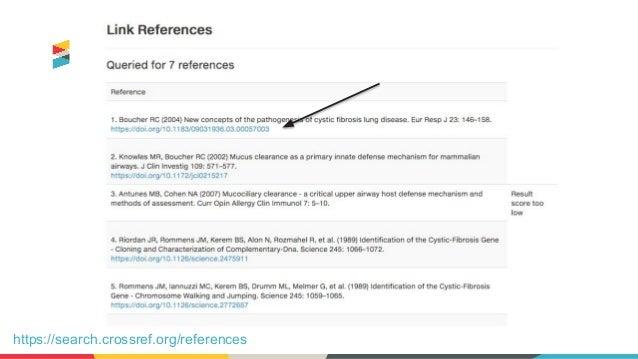 Más información • Las hojas de información del servicio en español (https://www.crossref.org/services/) • Documentación (h...