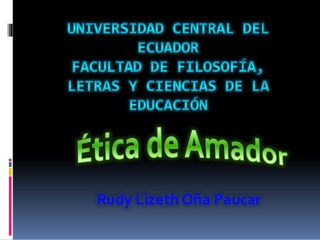 Rudy Lizeth Oña Paucar