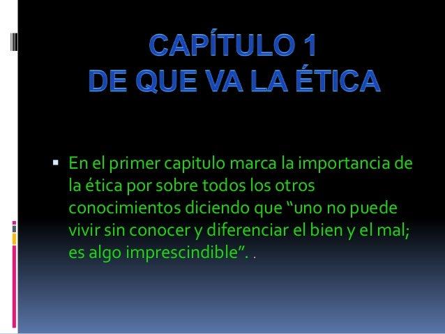 ETICA PARA AMADOR POR RUDY OÑA Slide 2