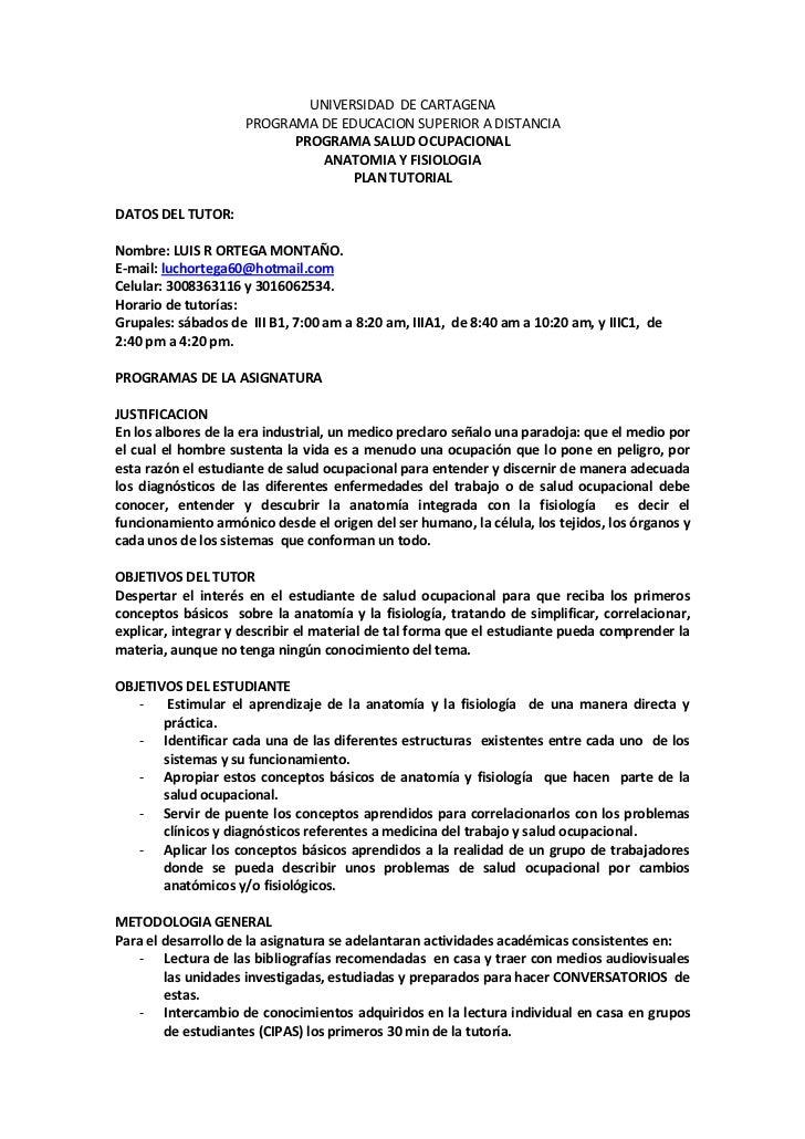 Universidad de cartagena anatomia luis ortega