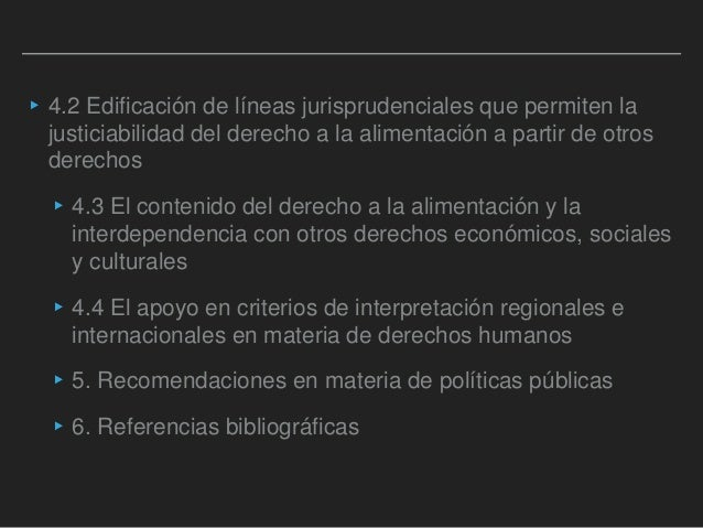 Las dimensiones de la justiciabilidad del derecho a la alimentación y al agua   Slide 3