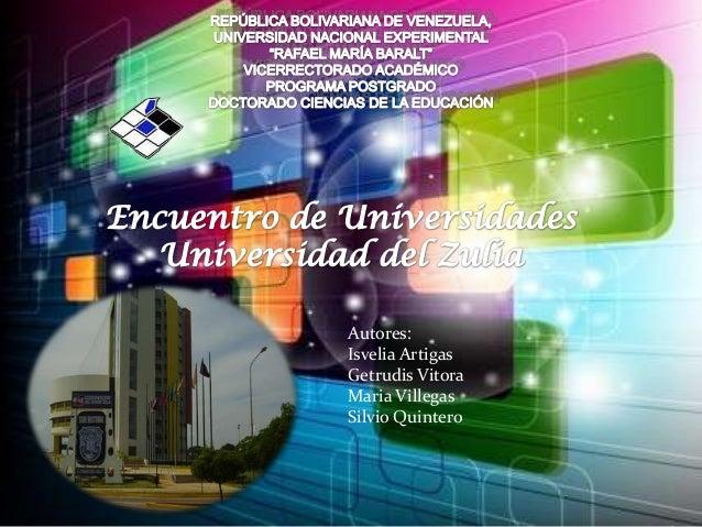 Autores:Isvelia ArtigasGetrudis VitoraMaria VillegasSilvio Quintero