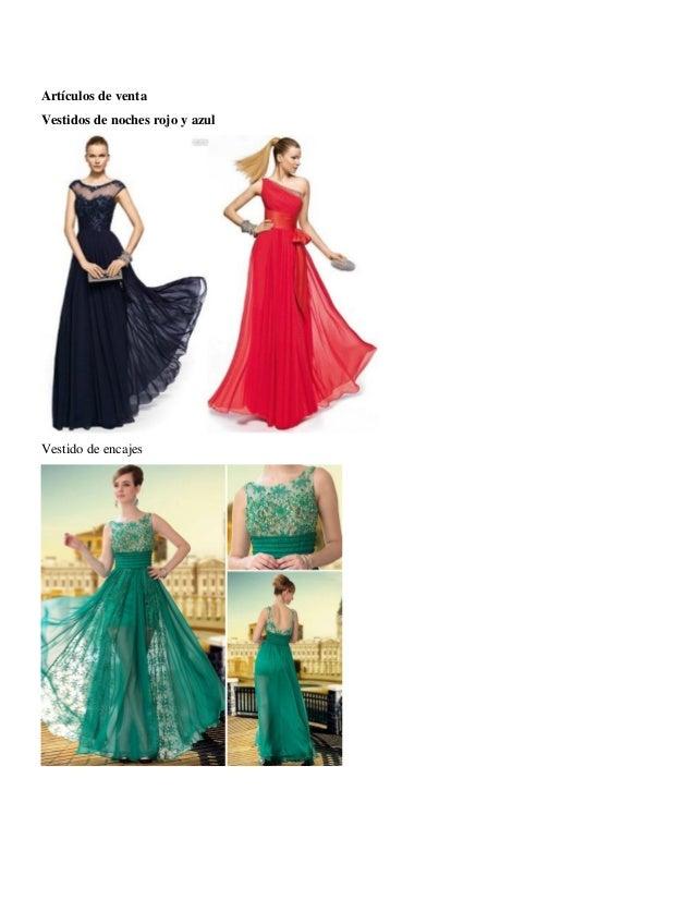 Artículos de venta  Vestidos de noches rojo y azul  Vestido de encajes