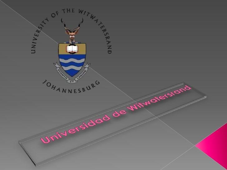  Situado en la zona norte del centro de Johannesburgo, conocido como la Universidad de Wits. Fundada en 1896 como la Escu...