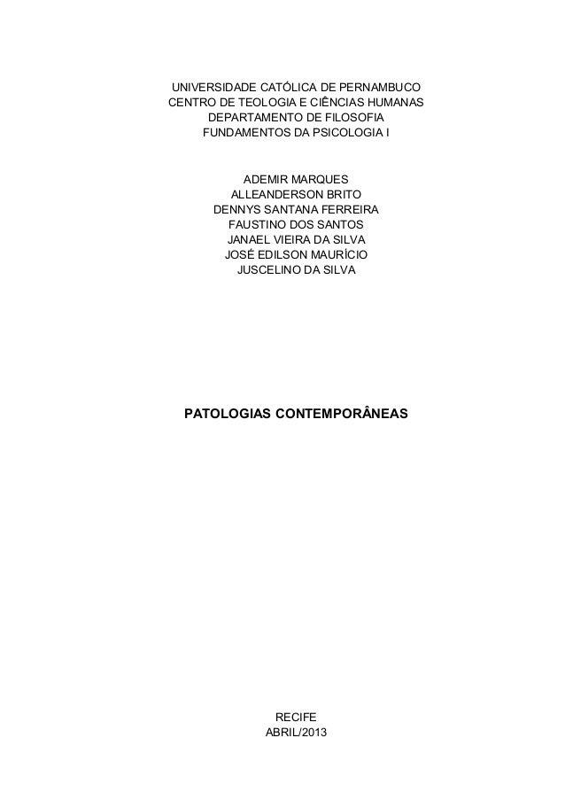 UNIVERSIDADE CATÓLICA DE PERNAMBUCOCENTRO DE TEOLOGIA E CIÊNCIAS HUMANASDEPARTAMENTO DE FILOSOFIAFUNDAMENTOS DA PSICOLOGIA...