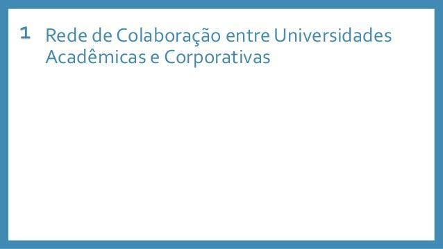 Rede de Colaboração entre Universidades Acadêmicas e Corporativas 1