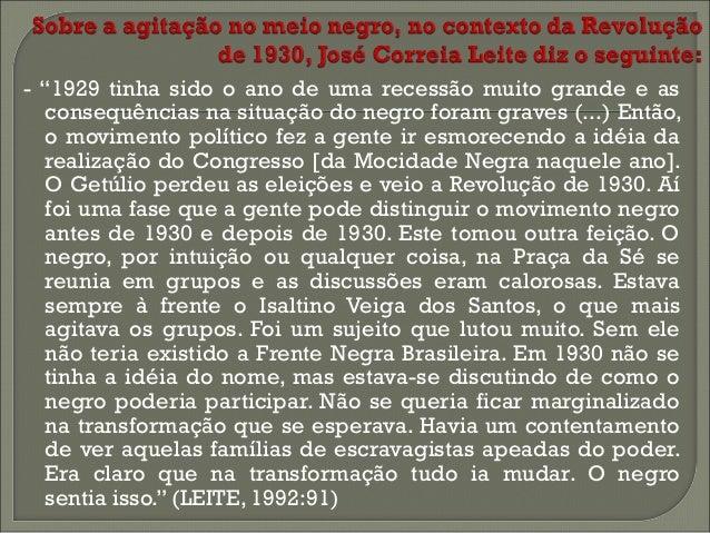   O movimento negro brasileiro seria uma cópia, em menores proporções, do movimento negro norte-americano?