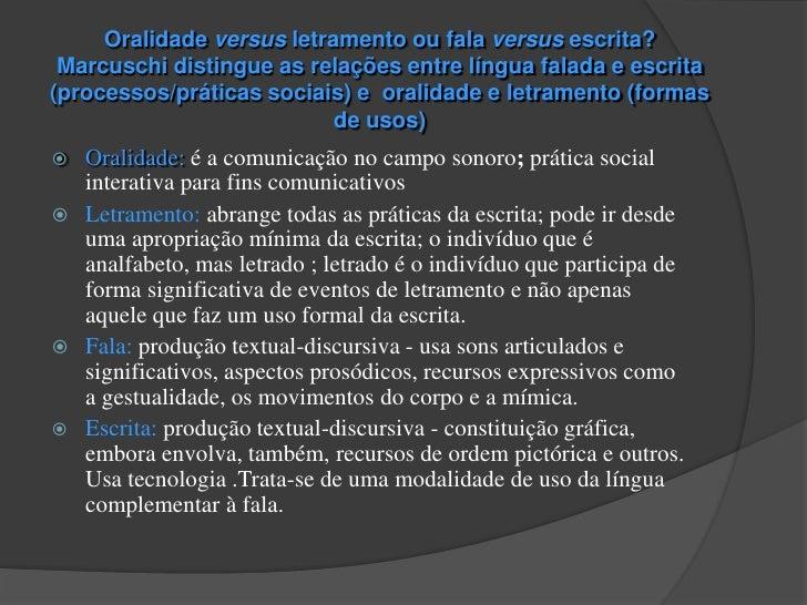 """   Tendências no estudo das relações entre fala e escrita          aspectos formais, estruturais e semiológicos   """"PERS..."""