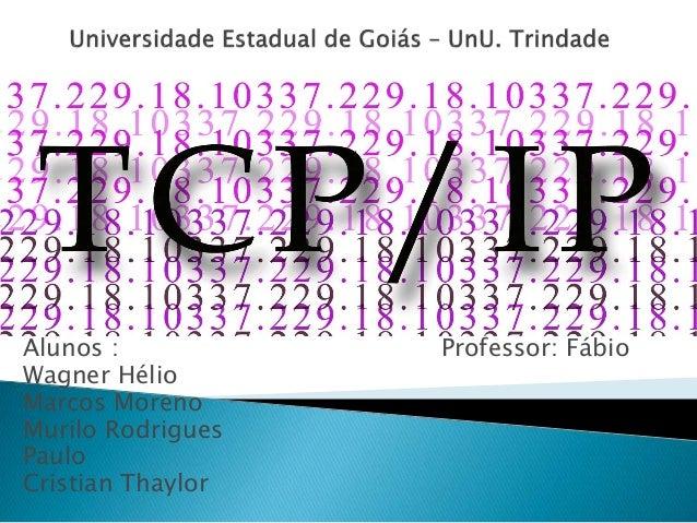 Alunos : Professor: Fábio Wagner Hélio Marcos Moreno Murilo Rodrigues Paulo Cristian Thaylor
