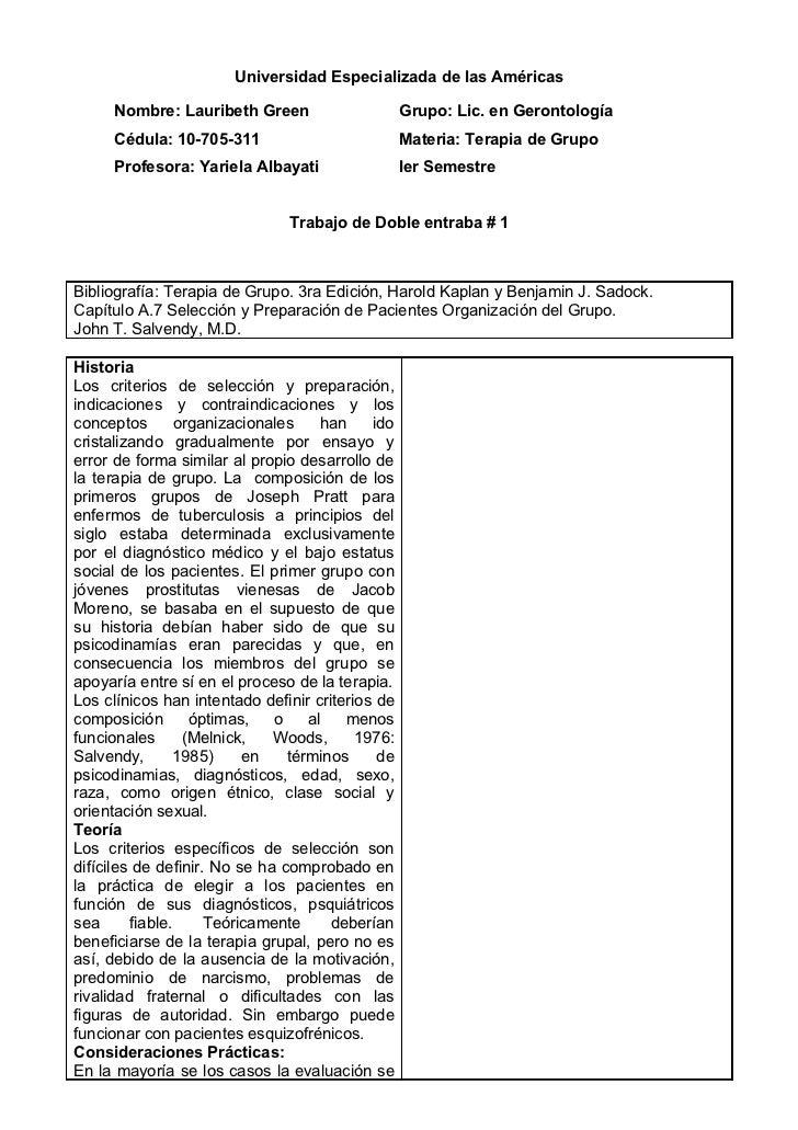 Universidad Especializada de las Américas     Nombre: Lauribeth Green                      Grupo: Lic. en Gerontología    ...