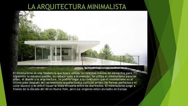 Diapositivas de arquitectura tardo moderna y minimalista - Arquitectura minimalista ...
