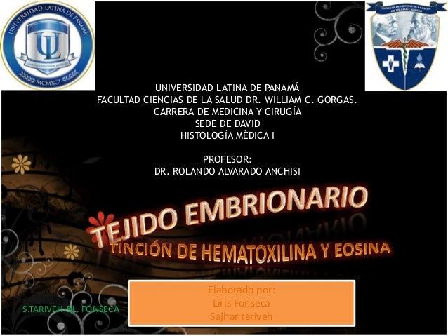 UNIVERSIDAD LATINA DE PANAMÁ FACULTAD CIENCIAS DE LA SALUD DR. WILLIAM C. GORGAS. CARRERA DE MEDICINA Y CIRUGÍA SEDE DE DA...
