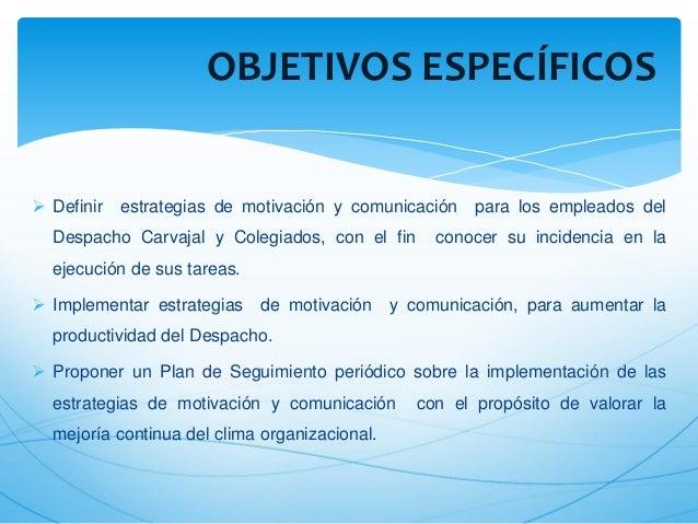 Implementación De Estrategias De Motivación Y Comunicacion