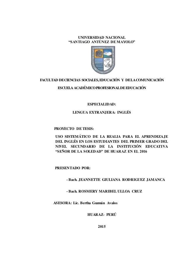 """UNIVERSIDAD NACIONAL """"SANTIAGO ANTÚNEZ DE MAYOLO"""" FACULTAD DECIENCIAS SOCIALES,EDUCACIÓN Y DELACOMUNICACIÓN ESCUELA ACADÉM..."""