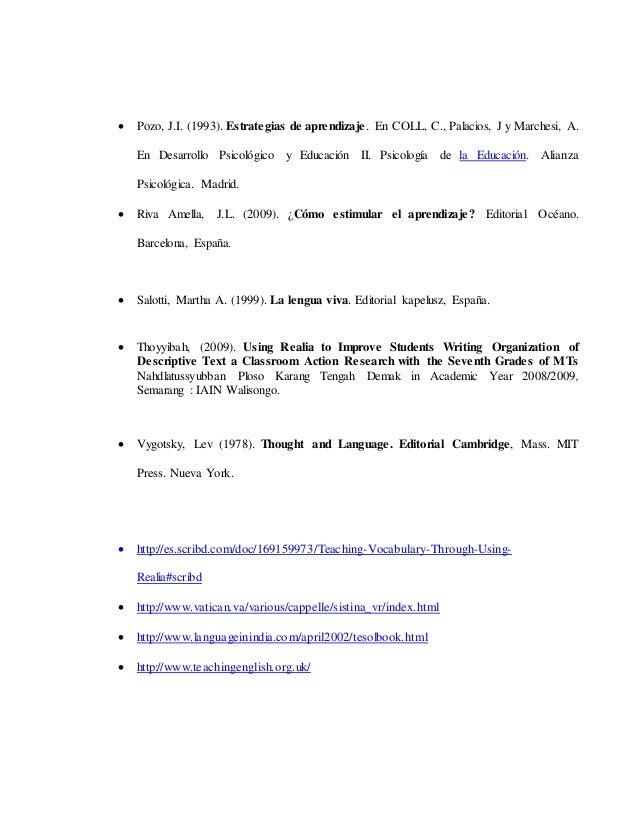  Pozo, J.I. (1993). Estrategias de aprendizaje. En COLL, C., Palacios, J y Marchesi, A. En Desarrollo Psicológico y Educa...