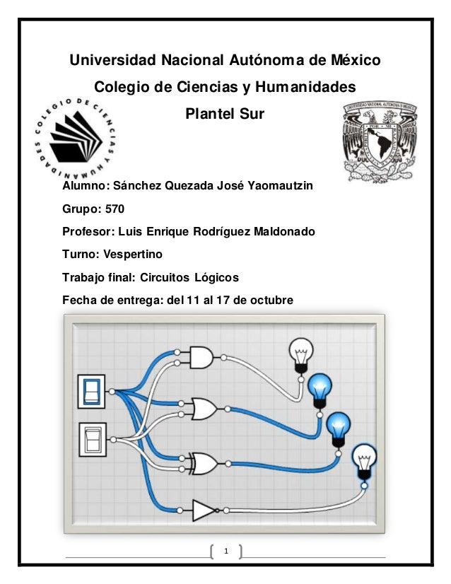 Universidad Nacional Autónoma de México  Colegio de Ciencias y Humanidades  Plantel Sur  Alumno: Sánchez Quezada José Yaom...