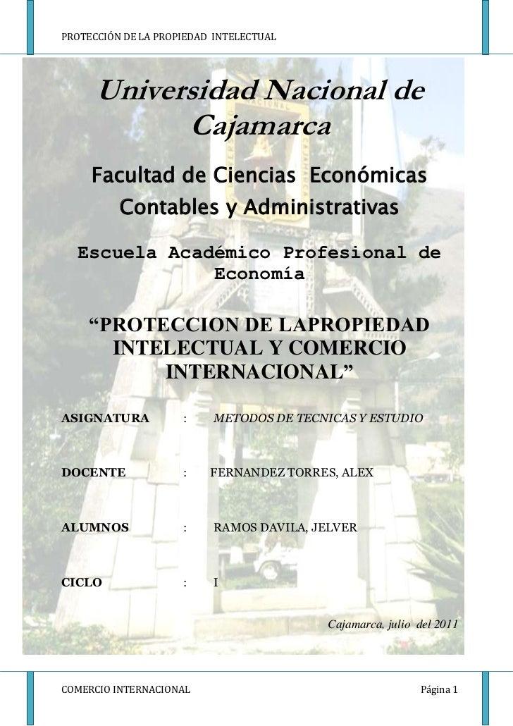 Universidad Nacional de Cajamarca <br />-571500-1257300<br />Facultad de Ciencias  Económicas Contables y Administrativas ...