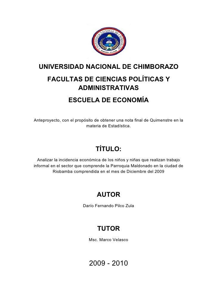 UNIVERSIDAD NACIONAL DE CHIMBORAZO       FACULTAS DE CIENCIAS POLÍTICAS Y              ADMINISTRATIVAS                  ES...