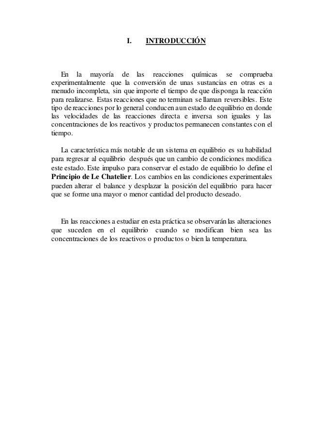EQUILIBRIO QUIMICO-LABORATORIO QIMICA II