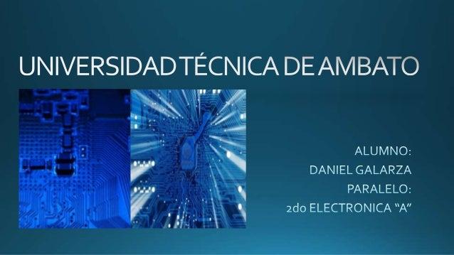 TECNOLOGÍAS DE ELECTRONICA
