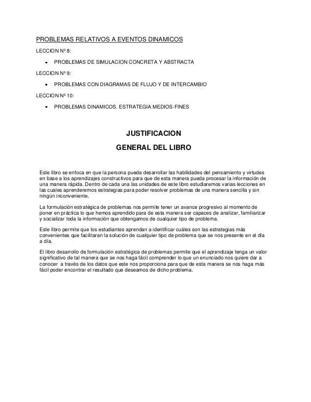 PROBLEMAS RELATIVOS A EVENTOS DINAMICOS LECCION Nº 8: PROBLEMAS DE SIMULACION CONCRETA Y ABSTRACTA LECCION Nº 9: PROBLEMAS...