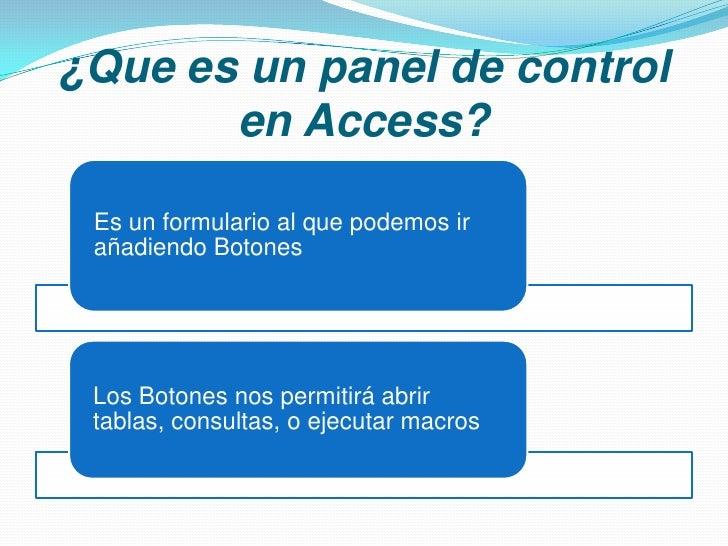 Paneles de control en access - Www wayook es panel ...