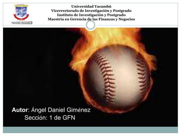 Universidad Yacambú  Vicerrectorado de Investigación y Postgrado  Instituto de Investigación y Postgrado  Maestría en Gere...