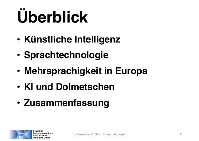 Künstliche Intelligenz beim Dolmetschen und Übersetzen Slide 2