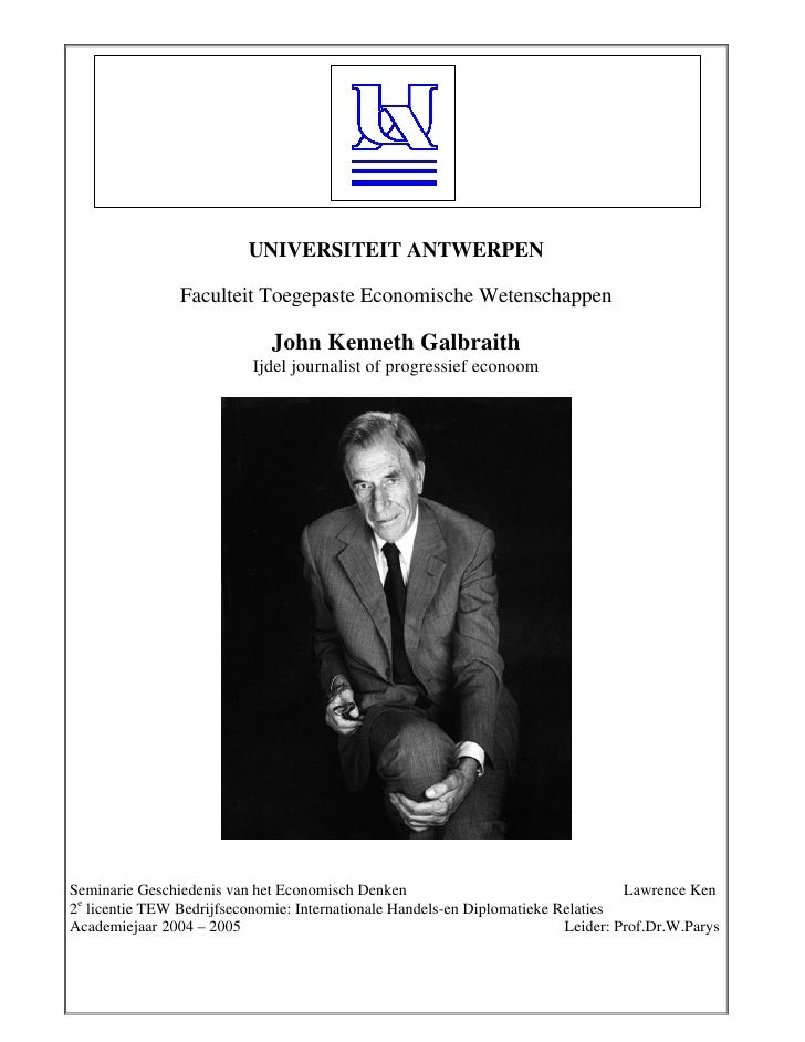 UNIVERSITEIT ANTWERPEN                  Faculteit Toegepaste Economische Wetenschappen                                John...