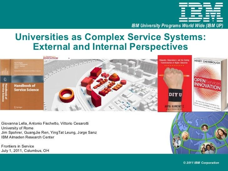 Universities as Complex Service Systems:  External and Internal Perspectives   Giovanna Lella, Antonio Fischetto, Vittorio...