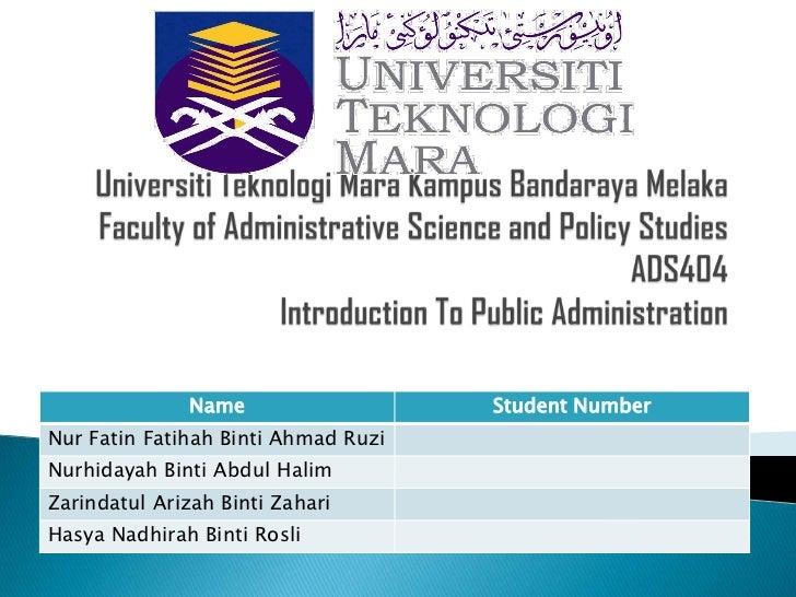 Name                   Student NumberNur Fatin Fatihah Binti Ahmad RuziNurhidayah Binti Abdul HalimZarindatul Arizah Binti...