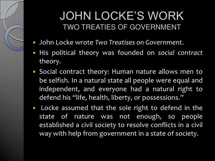 John Locke S Theory Of The State Of Nature Year