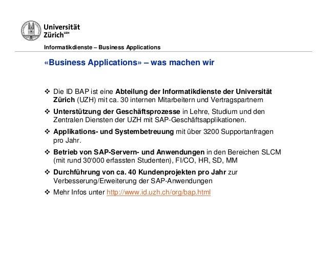 Universität Zürich - erfolgreiches Testing Slide 3