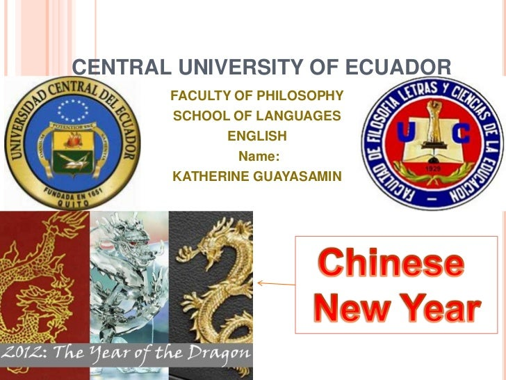 CENTRAL UNIVERSITY OF ECUADOR       FACULTY OF PHILOSOPHY       SCHOOL OF LANGUAGES             ENGLISH               Name...
