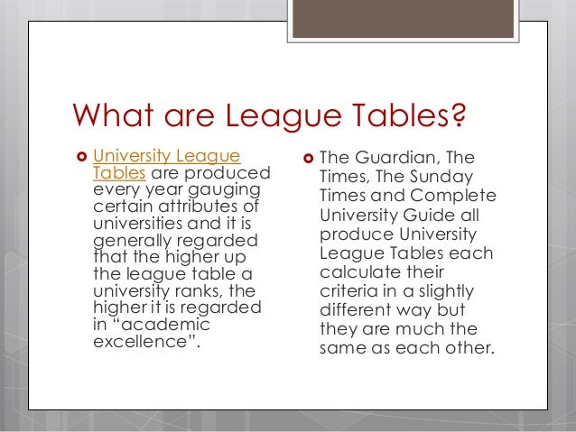 University league tables what to consider - University league tables french ...