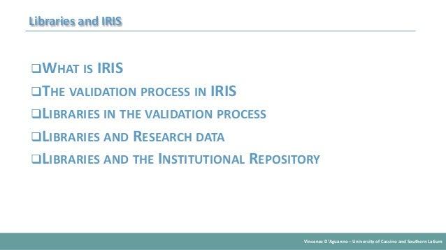 University Libraries and Iris Slide 2