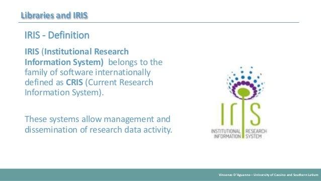 University Libraries and Iris Slide 3