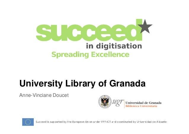 University Library of Granada  Anne-Vinciane Doucet