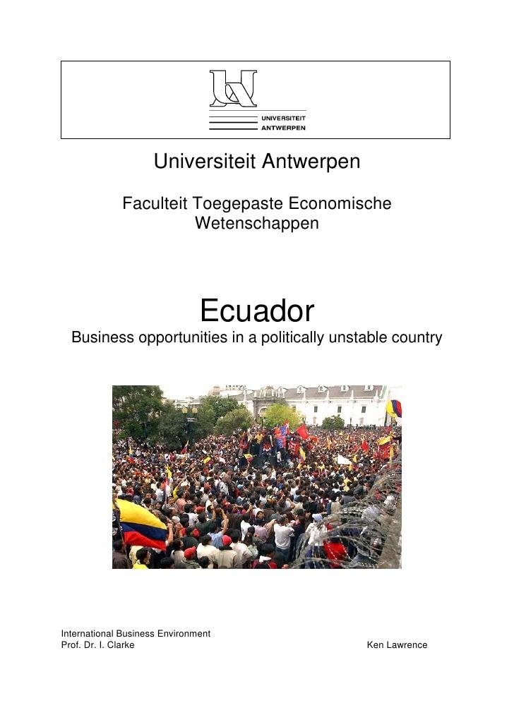 Universiteit Antwerpen              Faculteit Toegepaste Economische                        Wetenschappen                 ...