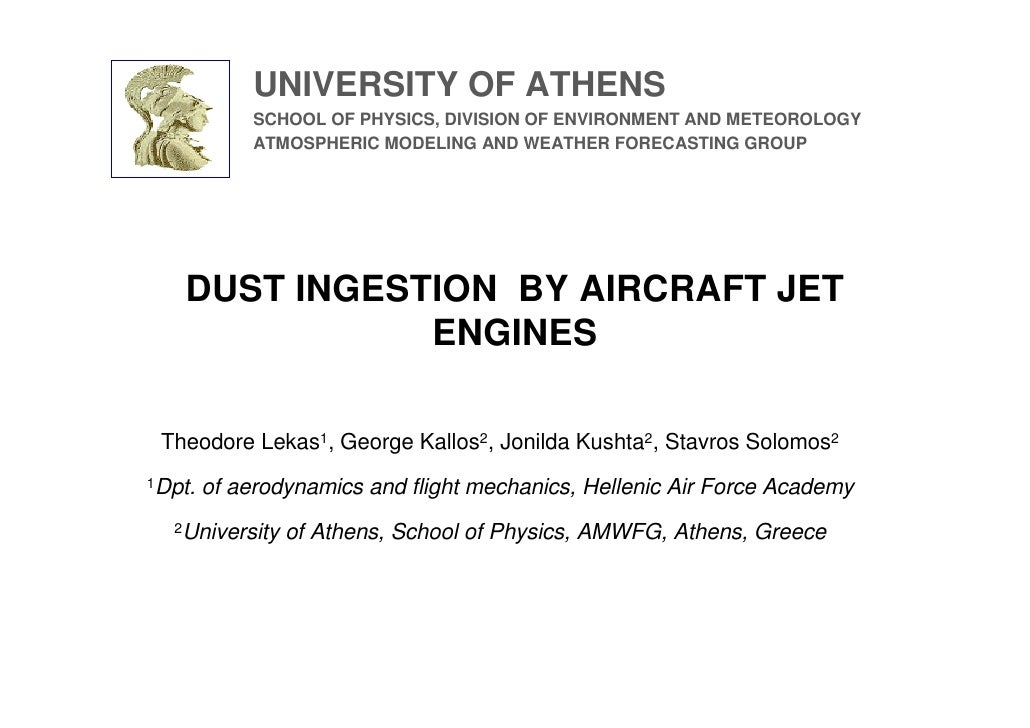UNIVERSITY OF ATHENS              SCHOOL OF PHYSICS, DIVISION OF ENVIRONMENT AND METEOROLOGY              ATMOSPHERIC MODE...