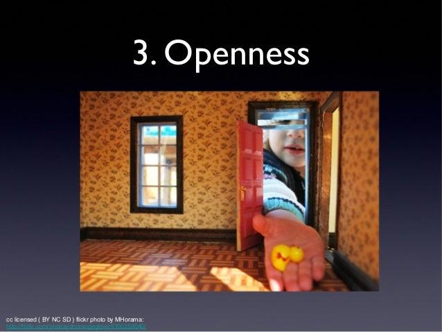 3. Openness  umwblogs.org