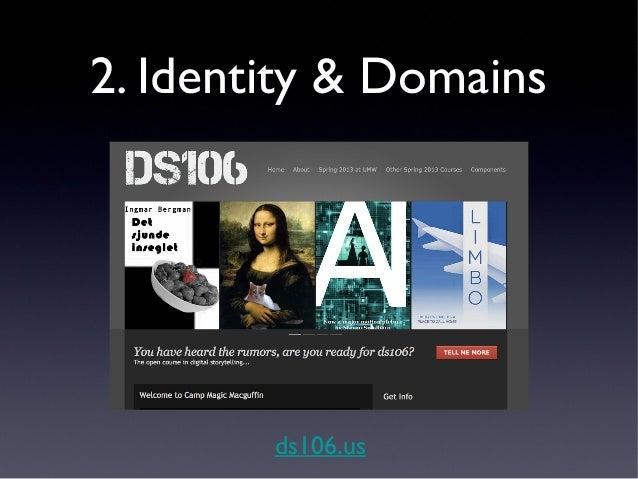 2. Identity & Domains      umwdomains.com