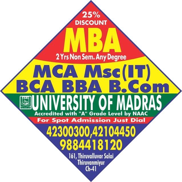 University of madras mba thiruvanmiyur sunpack 2x2 feet,