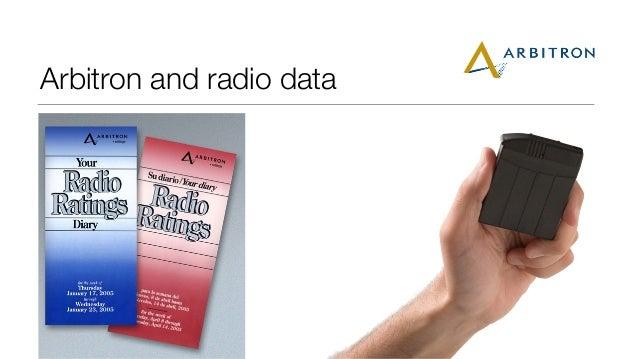 Arbitron and radio data