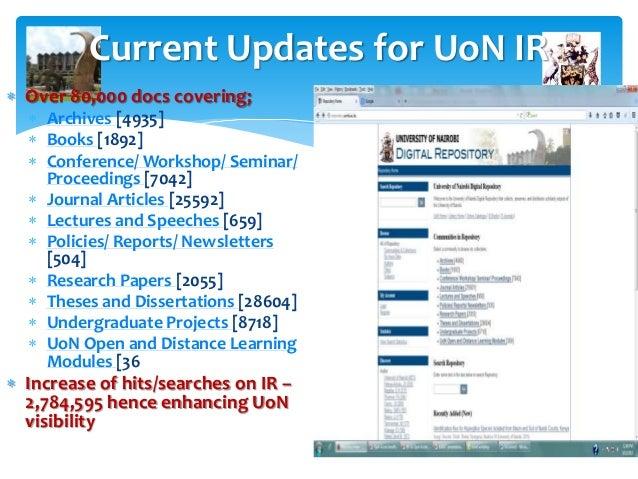 University of Nairobi Digital Repository